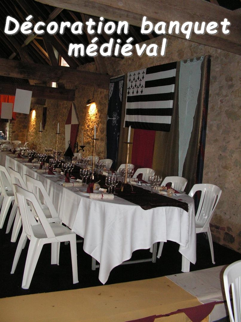 décoration table médiévale