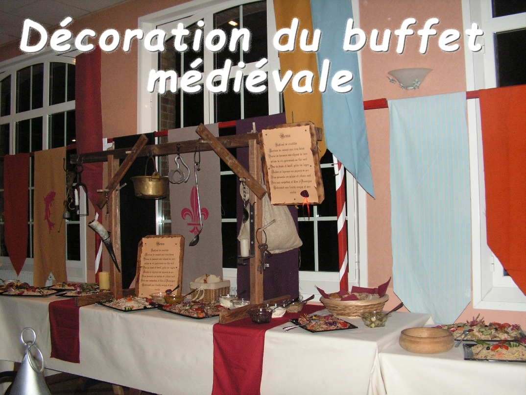 mariage table banquet medieval